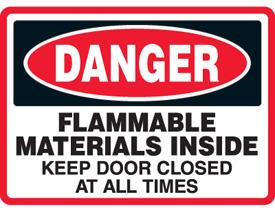Emedco Flammable Materials Sign